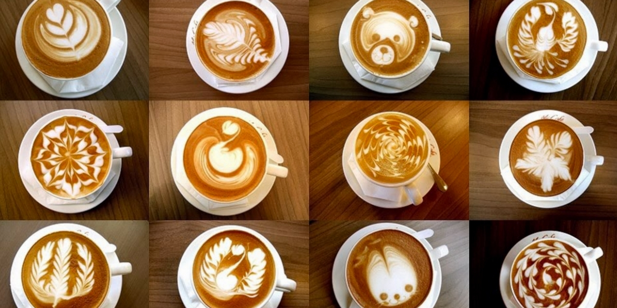 coffee art, latte